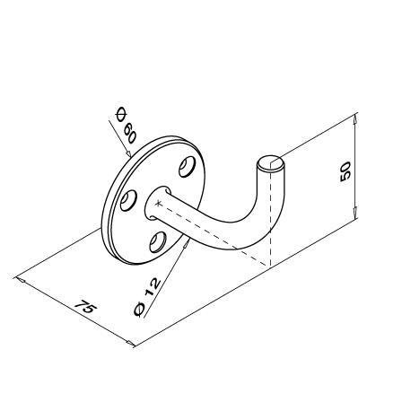 Tube Support  | Produkta tehniskais rasējums