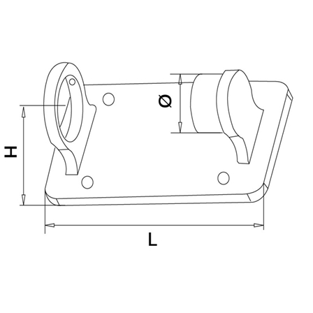 Ear Support OD 42.4 mm | Product technical drawing
