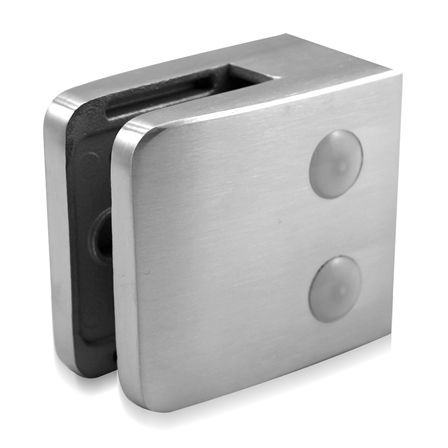 Glass Clamp 55x55 mm Flat 8.76/10/12 mm (M8) Securing Plate | Product photo