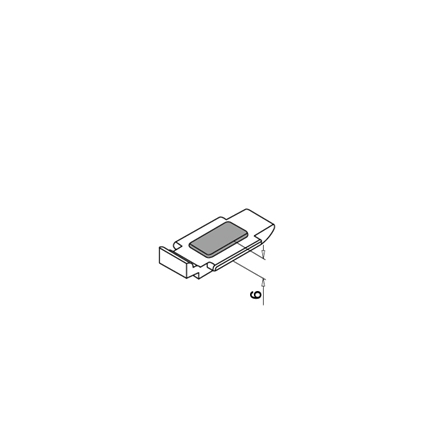 Klaasiklamber 55x55 siledale pinnale 8/8,76/10 mm turvaplaadiga | Toote tehniline joonis