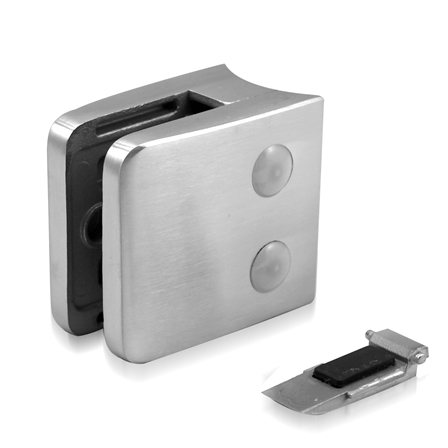 Glass Clamp 55x55 mm OD 42.4 mm 8.76/10/12 mm (M8) Securing Plate  | Product photo