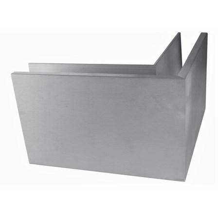 Glass Railing Floor Slim U-Profile Anodized 90° Outer Corner | Product photo