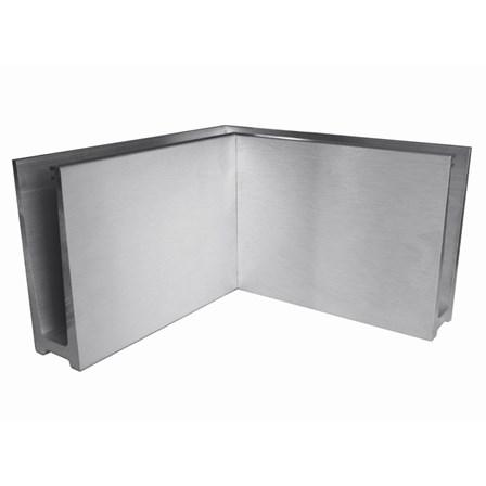 Glass Railing Floor Slim U-Profile Anodized 90° Inner Corner | Product photo