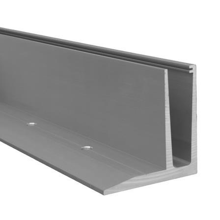 Glass Railing Floor Slim F-Profile Anodized L=5.0 m | Product photo