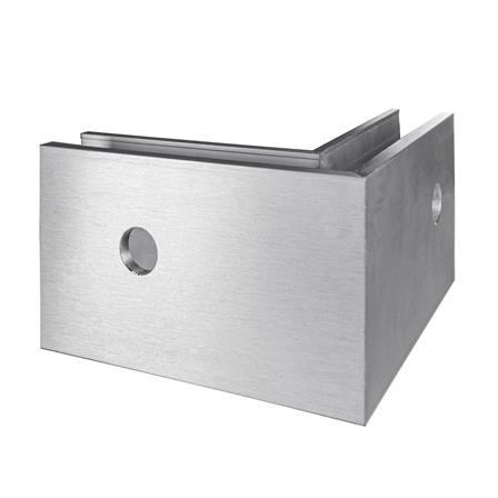 Glass Railing Wall Slim U-Profile Anodized 90° Outer Corner   Product photo