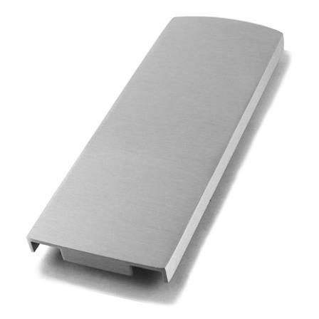Glass Railing Floor Slim U-Profile Anodized End Cap    Product photo