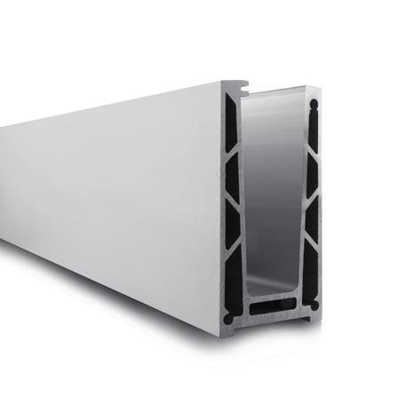 Glass Railing Floor Profile Anodized L=2.5 m | Product photo