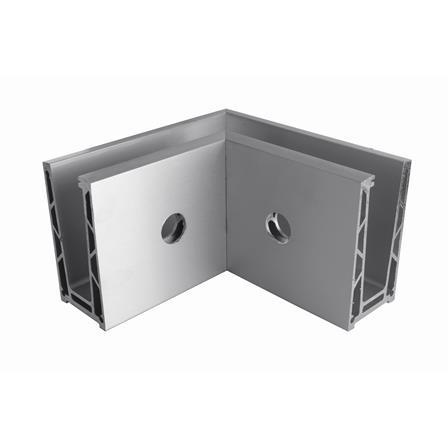 Glass Railing Wall Profile Anodized 90° Inner Corner | Product photo
