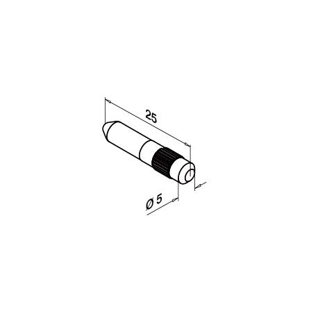 Glass Railing Profile Connection Pin | Product technical drawing
