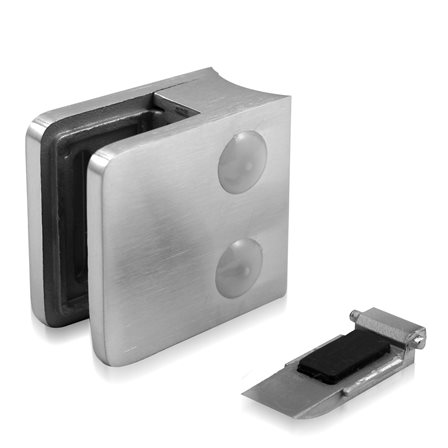 Glass Clamp 45x45 mm OD 42.4 mm 8/8.76/10 (M8) Securing Plate | Product photo