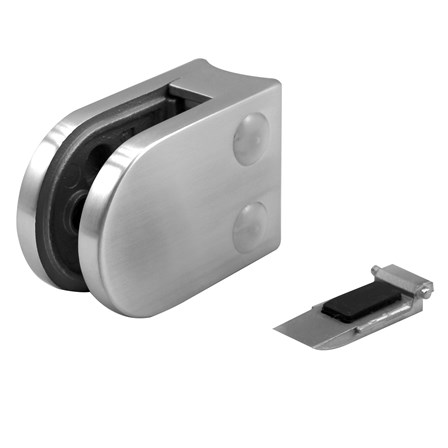 Glass Clamp 45x63 mm OD 42.4 mm8.76/10/12 mm (M8) Securing Plate | Product photo