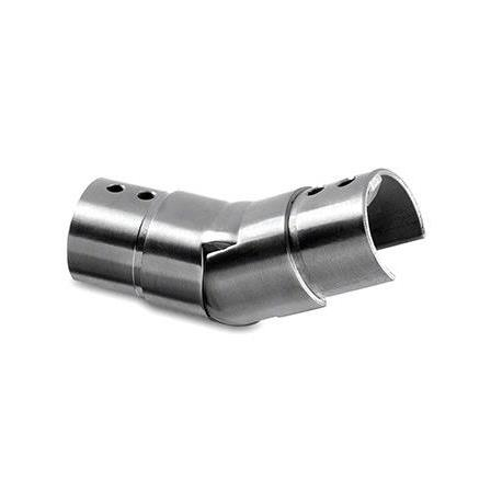 Slot Tube Connector 42.4x1.5 mm Vertical Adjustable Up Corner | Product photo