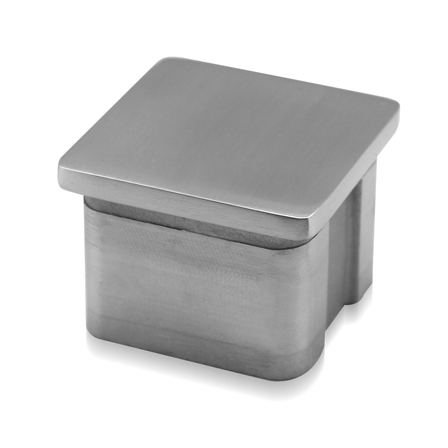Square End Cap Flat OD 40x40x2.0 mm | Product photo