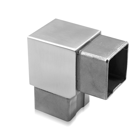 Square Connector 40x40x2.0 mm 90° Sharp Corner | Product photo