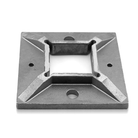 Square Base Plate 40x40x2.0 mm 100x100 mm | Product photo