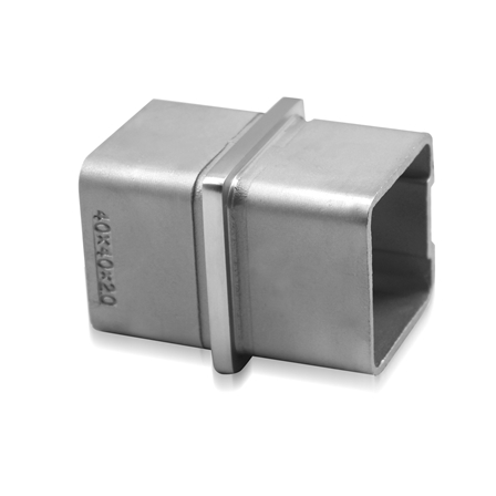 Square Connector 40x40x2.0 mm 180° Straight    Product photo