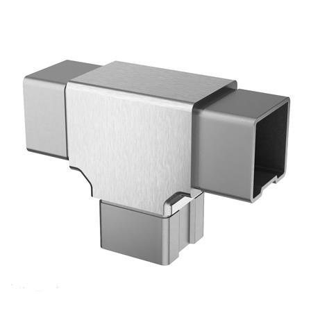 Connector 40x40x2.0 mm Tee 3-way | Product photo