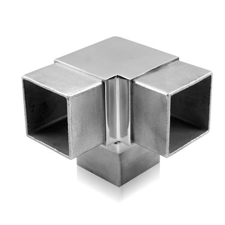 Connector 40x40x2.0 mm 90° 3-way  | Product photo