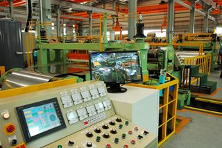Photo. Stainless steel steel automated production line at YC Inox factory